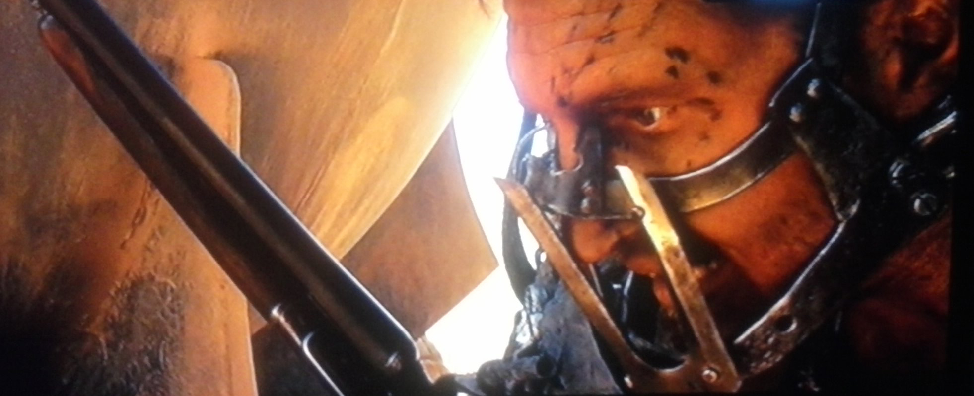 Max's muzzle as it appeared in 'Fury Road'