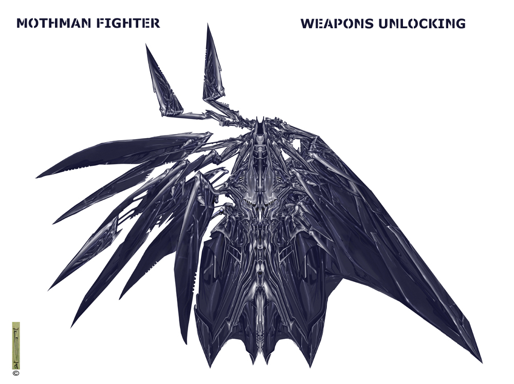 Mothman fighter unlocking weapons