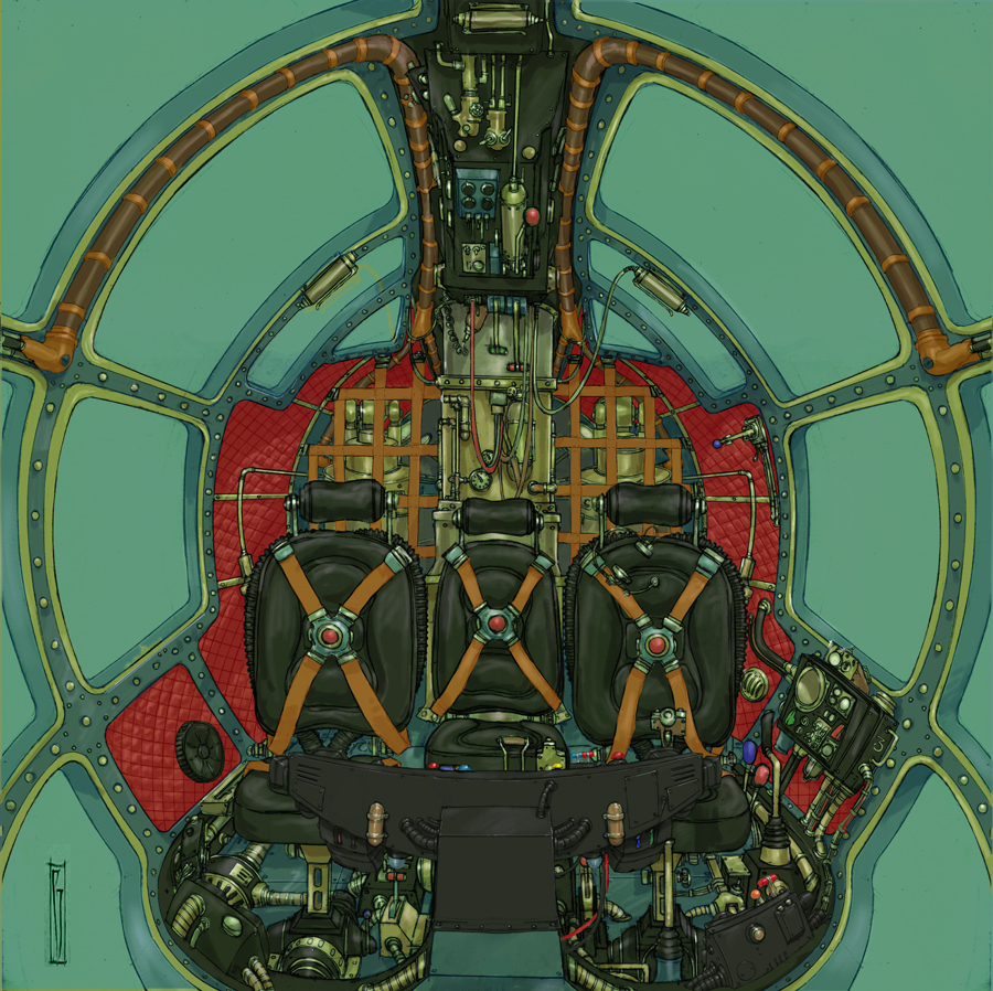 Cockpit in colour