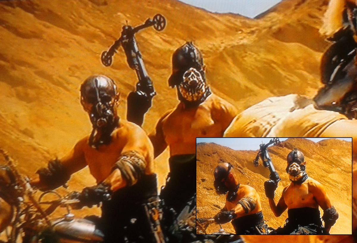 Biker skull mask in the movie