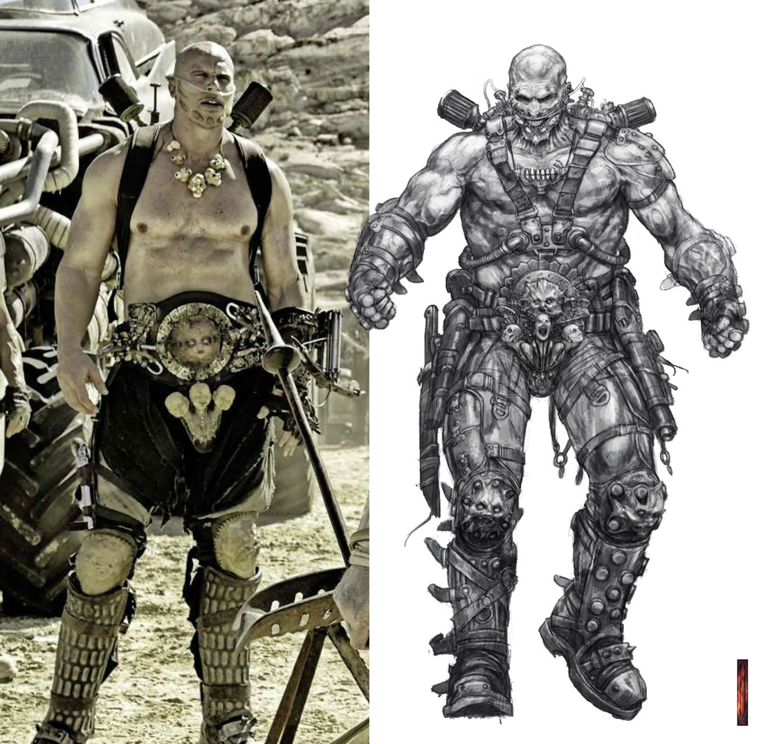 Comparison of my Rictus design and how the costume followed that